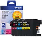 Brother Innobella High Yield (XL Series) Color Ink Cartridges for MFC-J4510DW (Cyan, Magenta & Yellow)