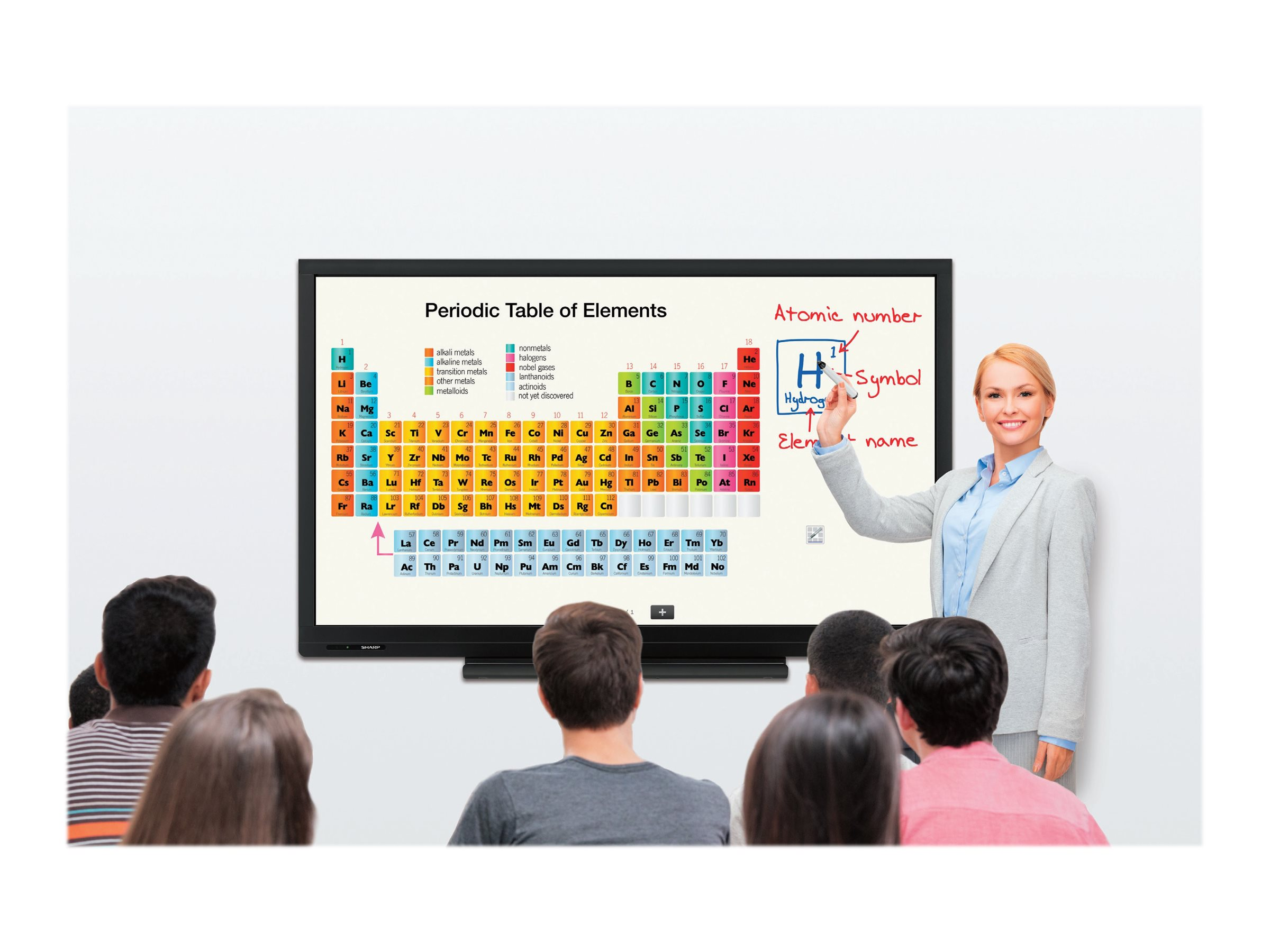 Sharp 70 Aquos Board Multitouch Interactive LED Display, PN-C703B, 24989001, Monitors - Large-Format LED-LCD