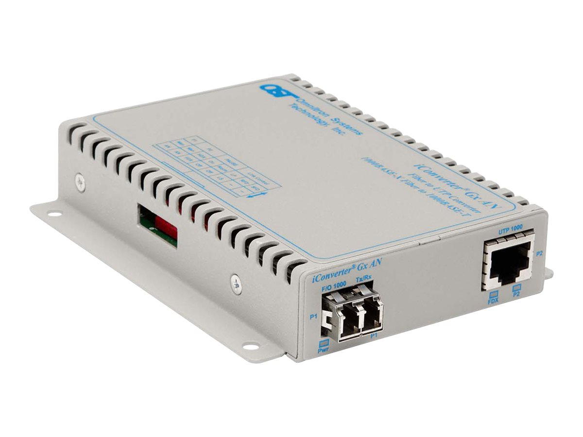 Omnitron 1000BASE-T to 1000BASE-SX LX Managed Media Converter, 8507N-1, 18439530, Network Transceivers
