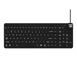 Man & Machine Really Cool Low Profile Keyboard, Black, RCLP/B5-LT, 17103479, Keyboards & Keypads