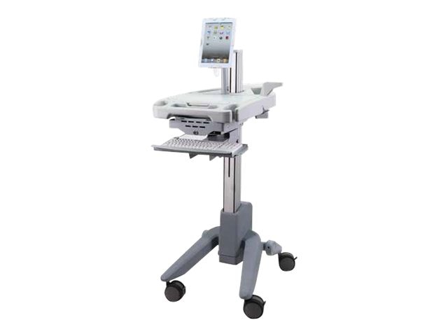 Peerless PeerCare EMR Hybrid Cart, Gray White, HCC201, 14899395, Stands & Mounts - AV
