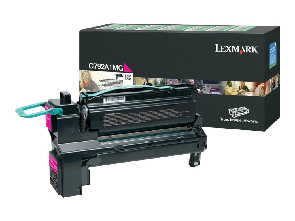 Lexmark Magenta Return Program Toner Cartridge for C792 & X792 Series, C792A1MG