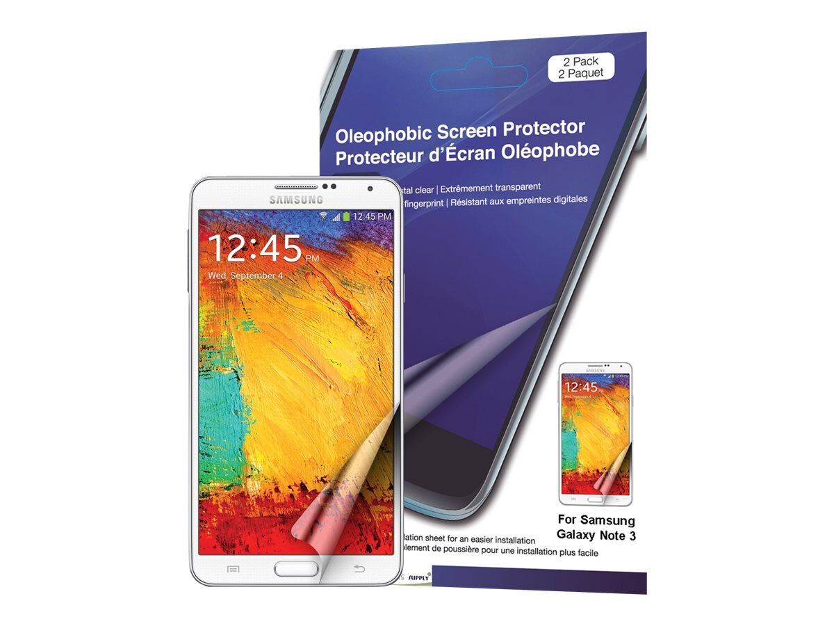 Green Onions Supply Oleophobic Screen Protector for Galaxy Not 3 - 2 Pack, RT-SPSGN307, 16384141, Phone Accessories