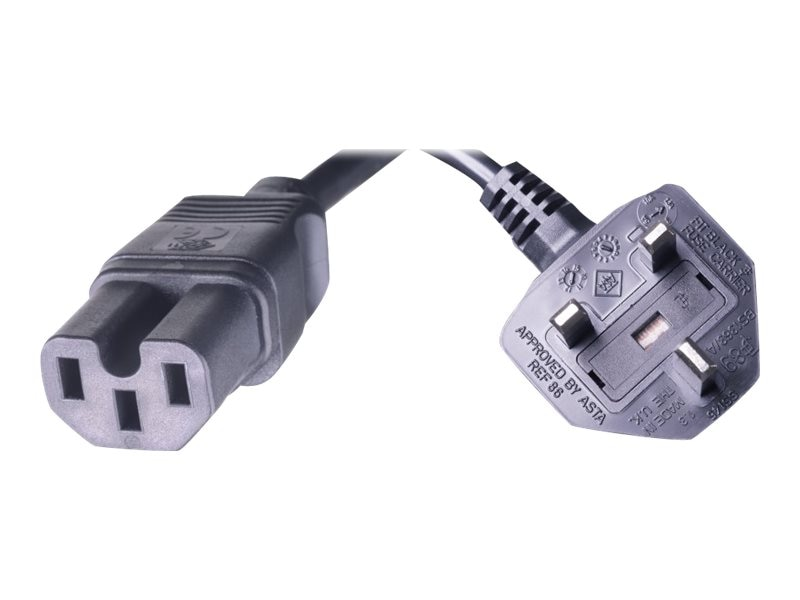 HPE Power Cord C15 to BS 1363 A, 2.5m, J9942A, 16590682, Power Cords