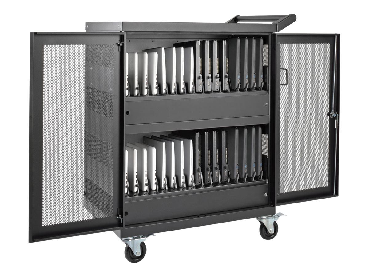 Tripp Lite 32-Port AC Charging Storage Station Cart for Chromebook, Laptop, Tablet, CSC32AC, 31817806, Computer Carts