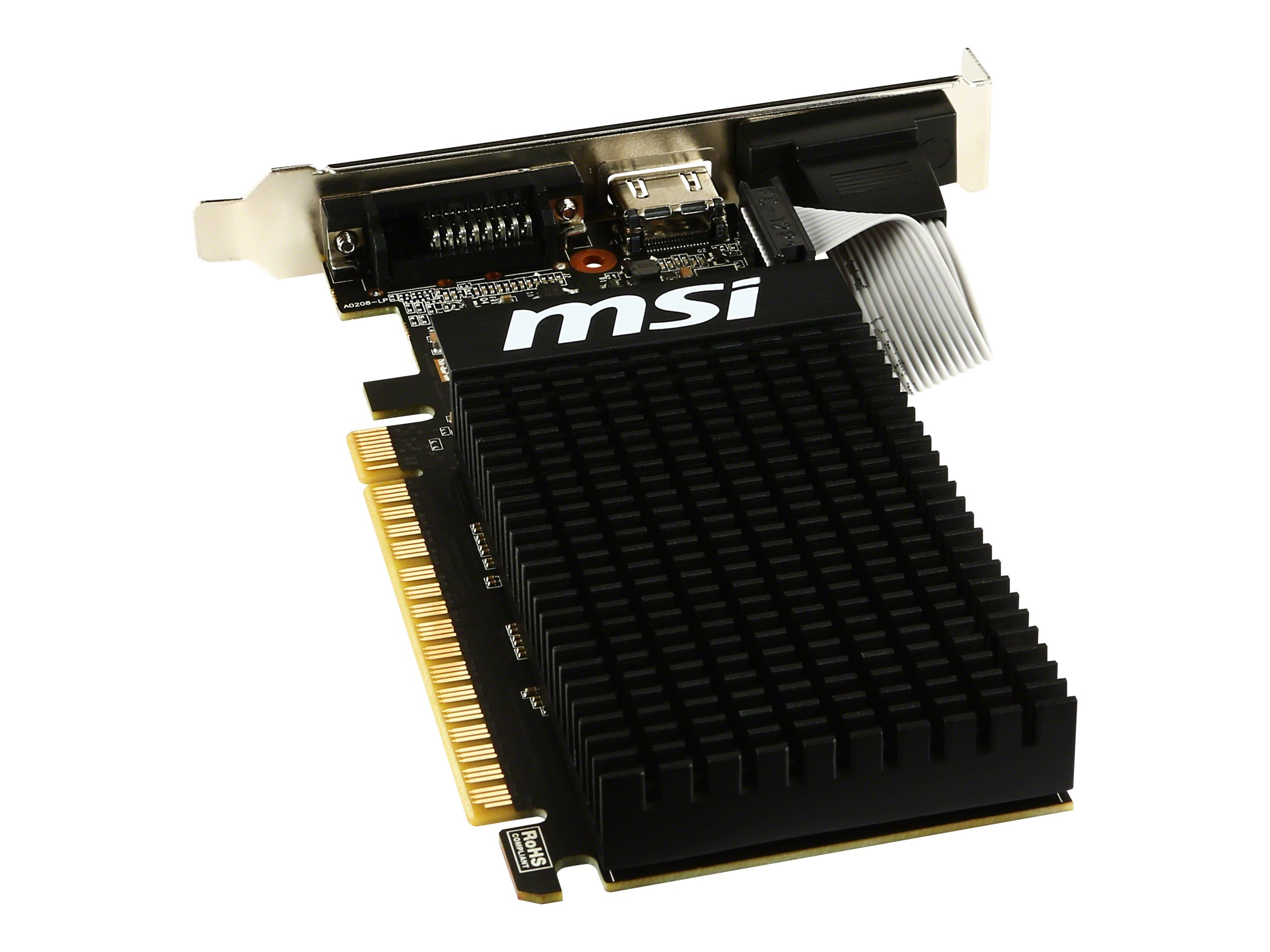 Microstar GeForce GT 710 PCIe 2.0 x8 Graphics Card, 2GB DDR3, GT 710 2GD3H LP