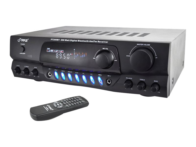 Pyle 200W BT Digital Amplifier Amp, PT265BT