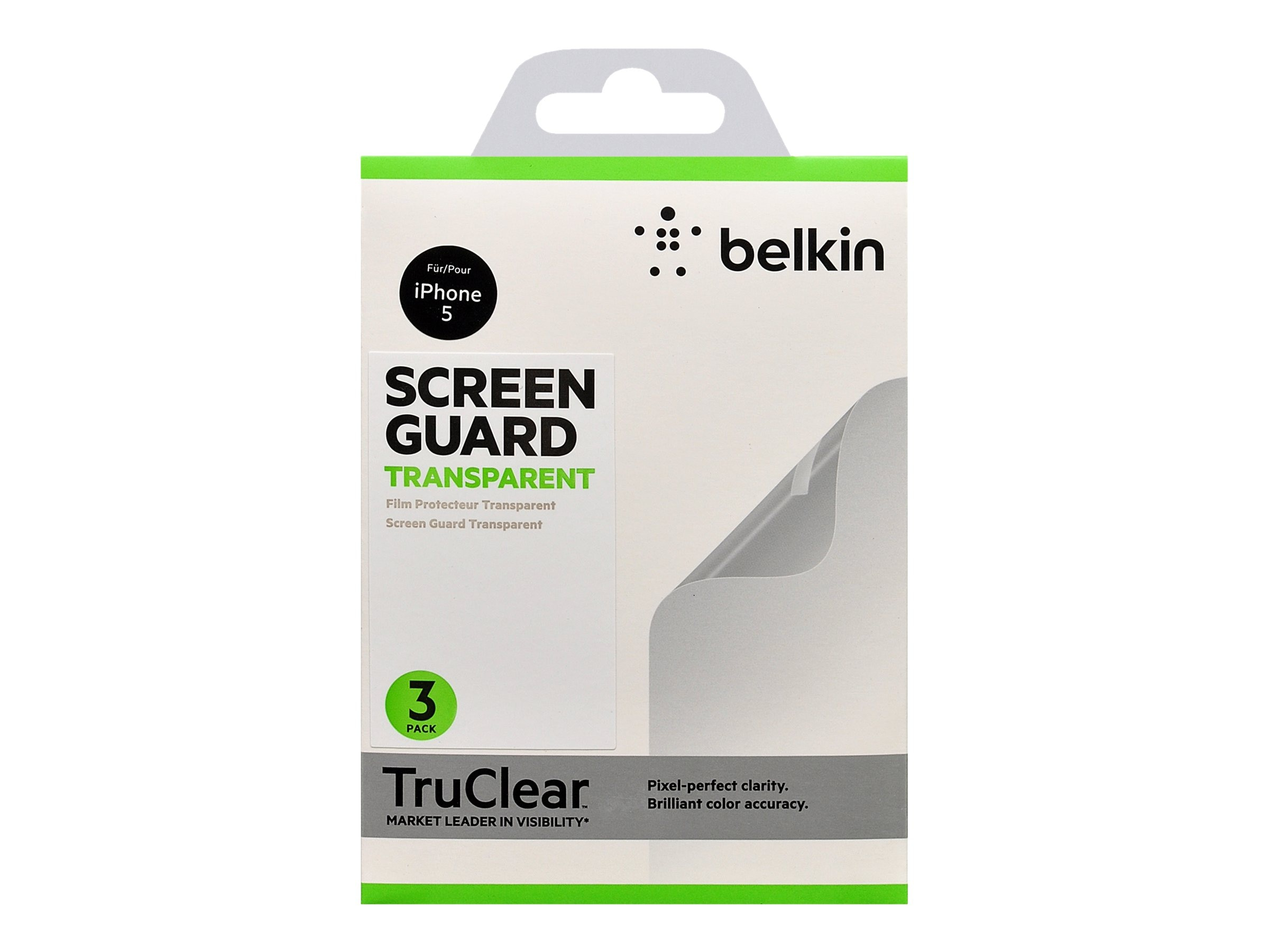Belkin Screen Protector for iPhone 5, Clear, F8W179TT3, 15077094, Protective & Dust Covers