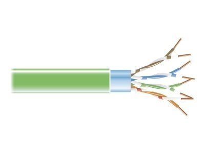 Black Box CAT5E 100MHz 26AWG Shielded PVC Cable, Green, 1000ft