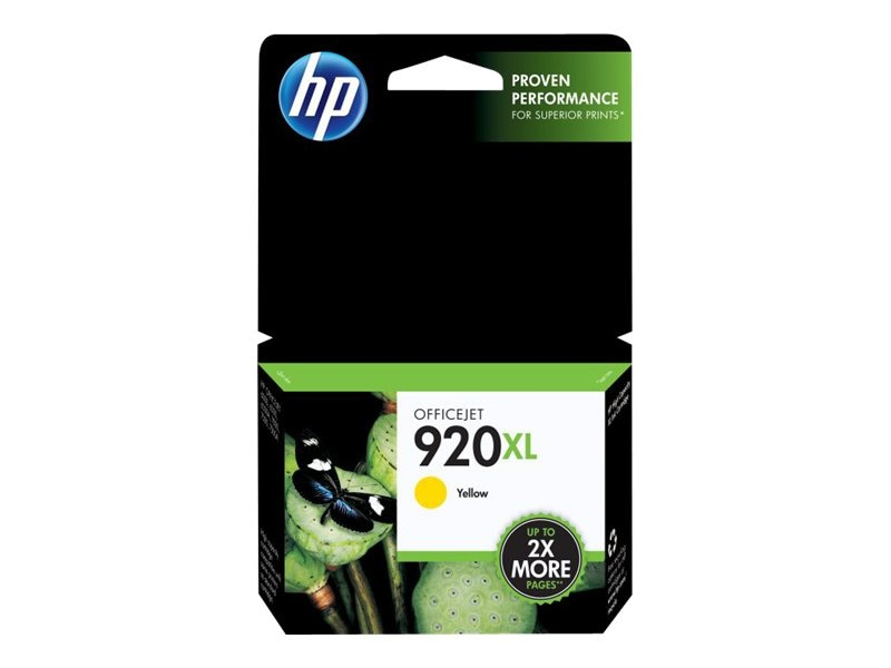 HP 920XL (CD974AN) High Yield Yellow Original Ink Cartridge, CD974AN#140, 9257275, Ink Cartridges & Ink Refill Kits