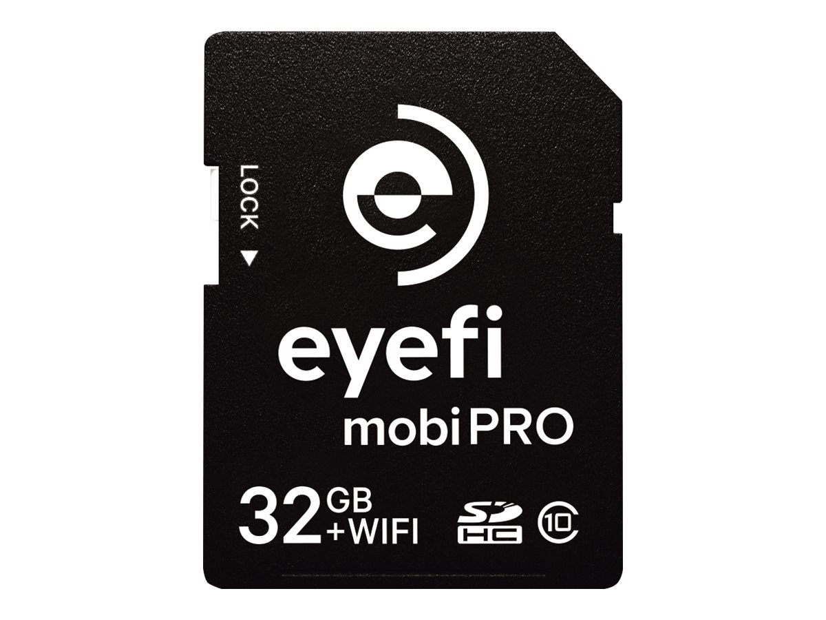 Eye-Fi 32GB Mobi Pro WiFi SDHC Flash Memory Card with 1 Year Cloud Membership, MOBIPRO-32, 18484824, Memory - Flash