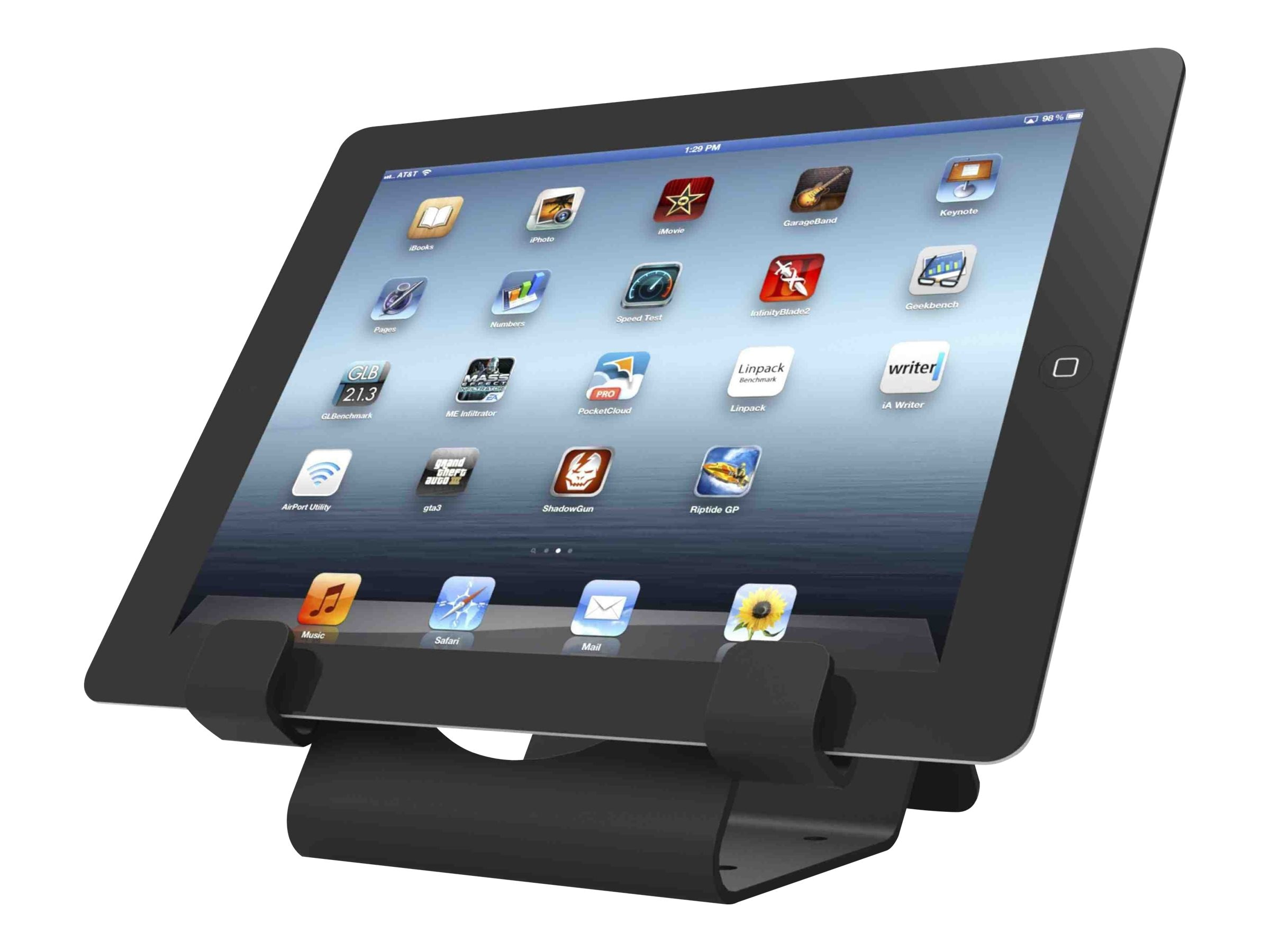 Compulocks Universal iPad and Tablet Security Holder, Black, CL12UTHBB, 30596511, Security Hardware