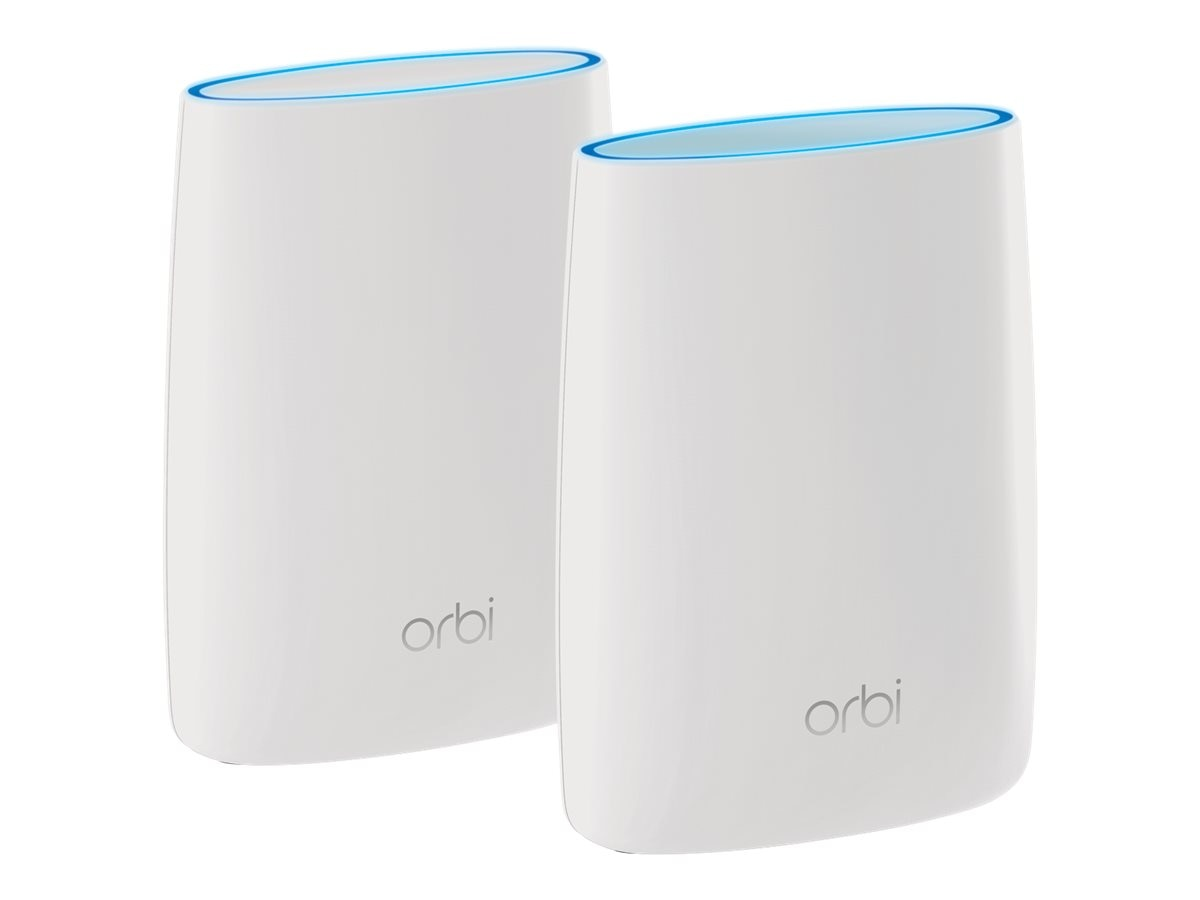 Netgear Orbi Tri-Band WiFi System (RBK50) Includes Orbi WiFi Router & Satellite for Whole Home WiFi Coverage, RBK50-100NAS