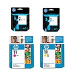 HP 11 Printhead Value Pack, C4810A/11A/12A/13A, 15193319, Ink Cartridges & Ink Refill Kits