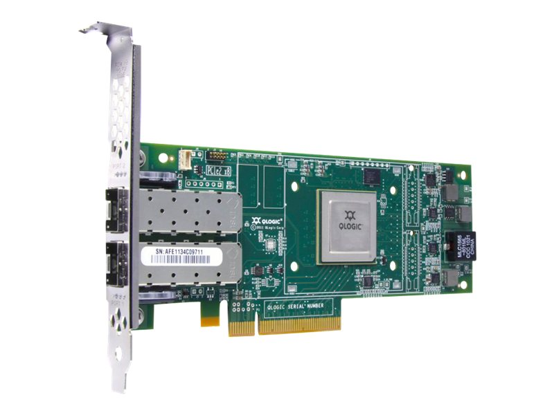 HPE StoreFabric SN1000Q 16GB 2-port PCIe Fibre Channel Host Bus Adapter, QW972A