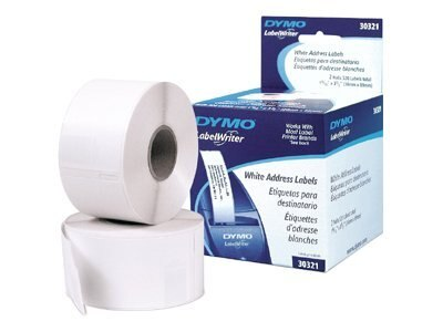 DYMO White Address Labels for DYMO-SEIKO Printers (2 Rolls; 130 Labels per Roll), 30251, 145983, Paper, Labels & Other Print Media