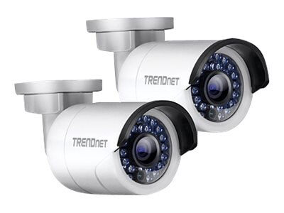 TRENDnet Outdoor 1.3 MP HD PoE IR Network Camera, Twin Pack, TV-IP320PI2K, 18560031, Cameras - Security