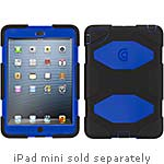 Griffin Survivor Polycarbonate Silicone Rugged case for iPad mini, Black Blue, GB35921-2, 15301295, Carrying Cases - Tablets & eReaders