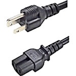APC Power Cord NEMA 5-15P to IEC 60320 C15, 125V 15A, 14 3 SJT, 3ft, Black, 40342-3, 15476714, Power Cords