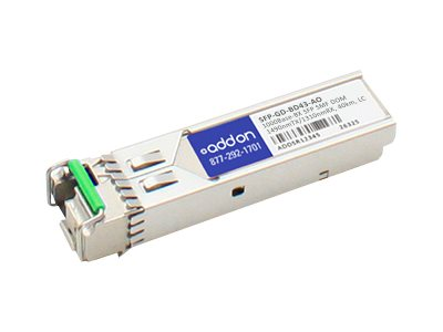 ACP-EP SFP-GD-BD43CPT 1000BASE BX SFP Transceiver, SFP-GD-BD43-AO, 17980631, Network Transceivers
