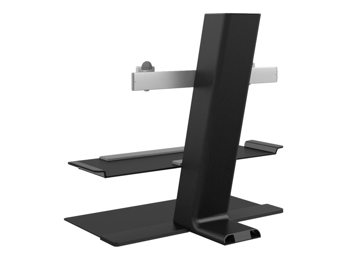 Humanscale QuickStand with Dual Monitor Support, Standing Base, Black, QSBC24FNN