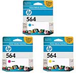HP 564 Color Ink Cartridge (CMY) Value Pack, CB318WN/CB319WN/CB320WN, 15538452, Ink Cartridges & Ink Refill Kits