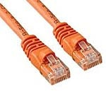 APC Cat6 Molded Patch Cable with Boot, Orange, 14ft