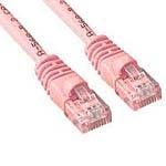 APC Cat6 Molded Patch Cable with Boot, Pink, 3ft, MUTP6-3PKB, 15539181, Cables