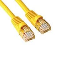 APC Cat6 Molded Patch Cable with Boot & Label, Yellow, 3ft, MUTP6-3YLB-P, 15539199, Cables