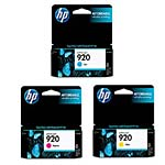 HP 920 Color Ink (CMY) Cartridge Value Pack