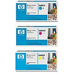 HP 124A Color (CMY) LaserJet Toner Cartridge Value Pack