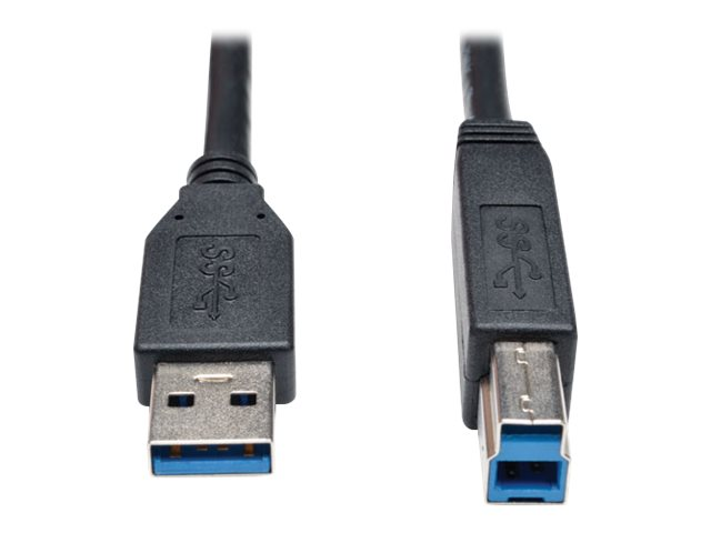 Tripp Lite USB 3.0 Type A to Type B M M SuperSpeed Cable, Black, 6ft, U322-006-BK, 17455407, Cables