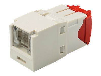 Panduit Cat5e RJ-45 8-position, 8-wire Spring Shuttered Universal Jack Module, Office White