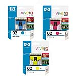HP 02 Ink Cartridge Value Pack, C8771WN/772WN/773WN, 15691211, Ink Cartridges & Ink Refill Kits