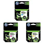 HP 933XL Color (CMY) Officejet Ink Cartridge Value Pack, CN054AN/055AN/056AN, 15691289, Ink Cartridges & Ink Refill Kits