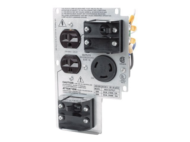 APC Smart-UPS RT 208V 3000 5000VA Backplate Kit (2) 6-20R (1) L6-30R Outlets, SURT011