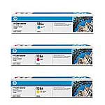HP 126A Color (CMY) LaserJet Toner Cartridge Value Pack