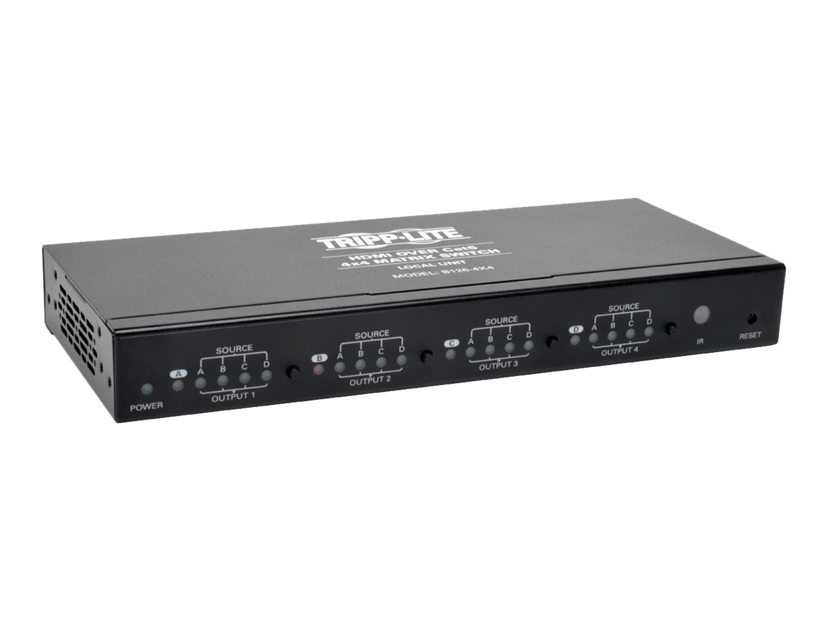 Tripp Lite 4x4 HDMI F F over Cat5 Cat6 Matrix Extender Switch with x4 RJ-45 , TAA, Instant Rebate - Save $31, B126-4X4