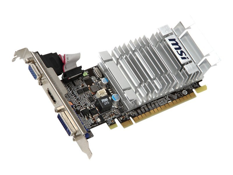 Microstar GeForce 8400 GS Low-Profile PCIe 2.0 x16 Graphics Card, 1GB DDR3, N8400GS-MD1GD3H/LP, 12266228, Graphics/Video Accelerators