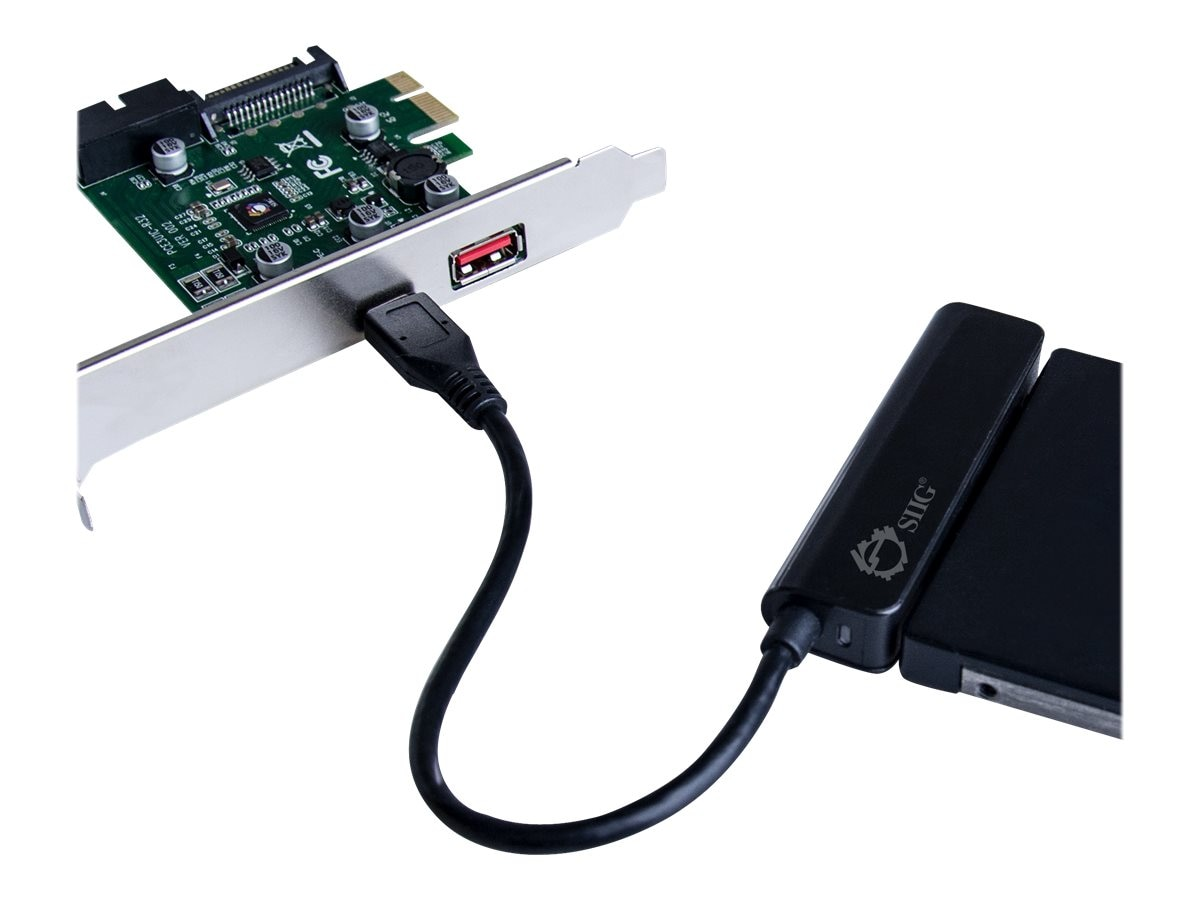 Siig USB 3.1 Gen 1 3-Port PCIe with Charging Port, JU-P20C11-S1