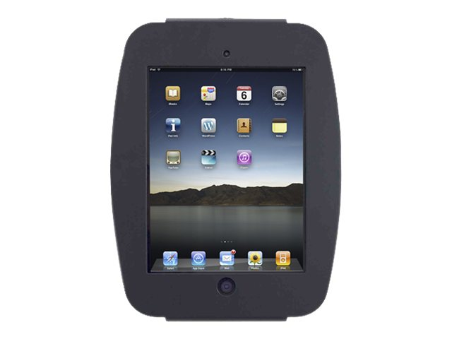 Compulocks iPad Enclosure, Space Wall Mount, fits iPad 2 3 4 , Black, 224SENB