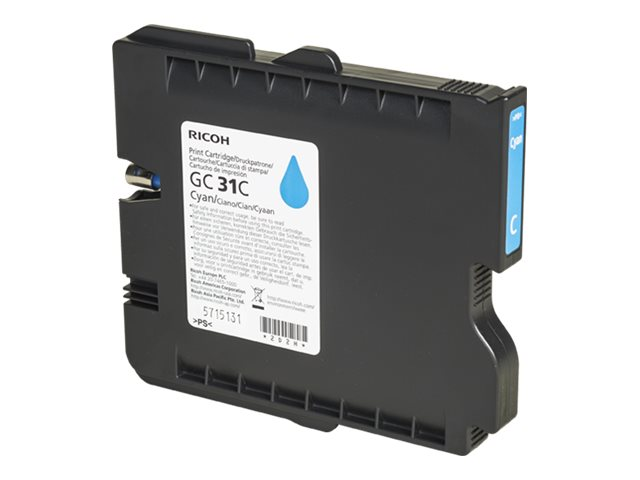 Ricoh Cyan Ink Cartridge, 405689