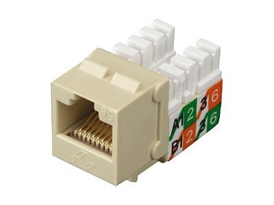 Black Box GigaBase2 CAT5E Jack, Universal Wiring, Office White, FMT925-R2, 7053498, Premise Wiring Equipment