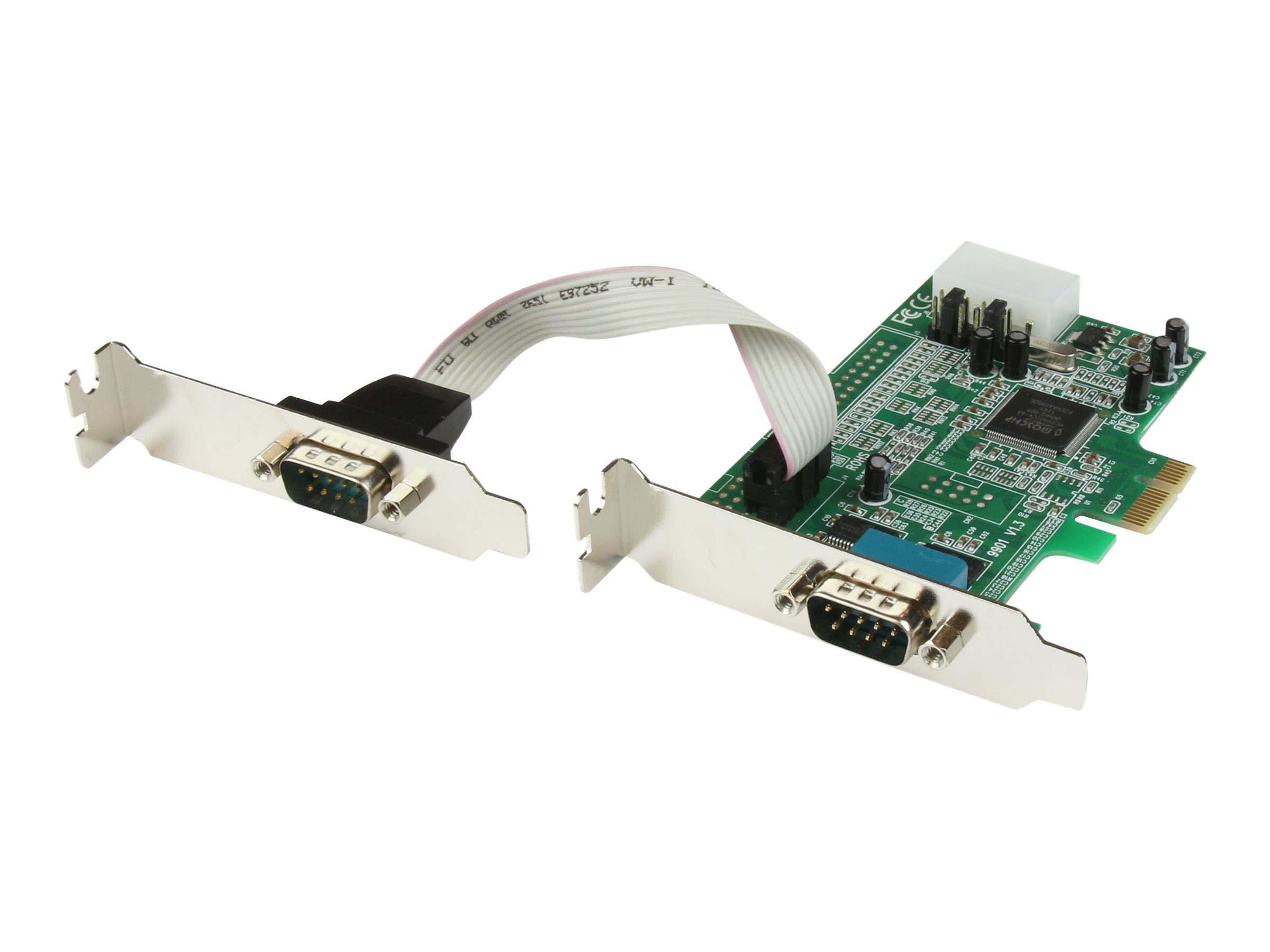 StarTech.com 2 Port Low Profile Native RS232 PCI Express Serial Card with 16550 UART, PEX2S553LP