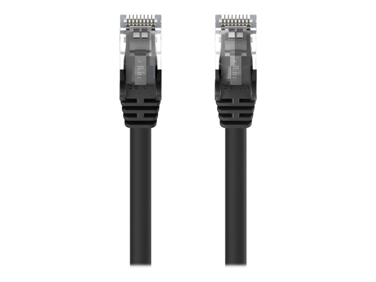 Belkin Cat6 Patch Cable, RJ-45 (M-M), Snagless, Black, 15ft, A3L980-15-BLK-S