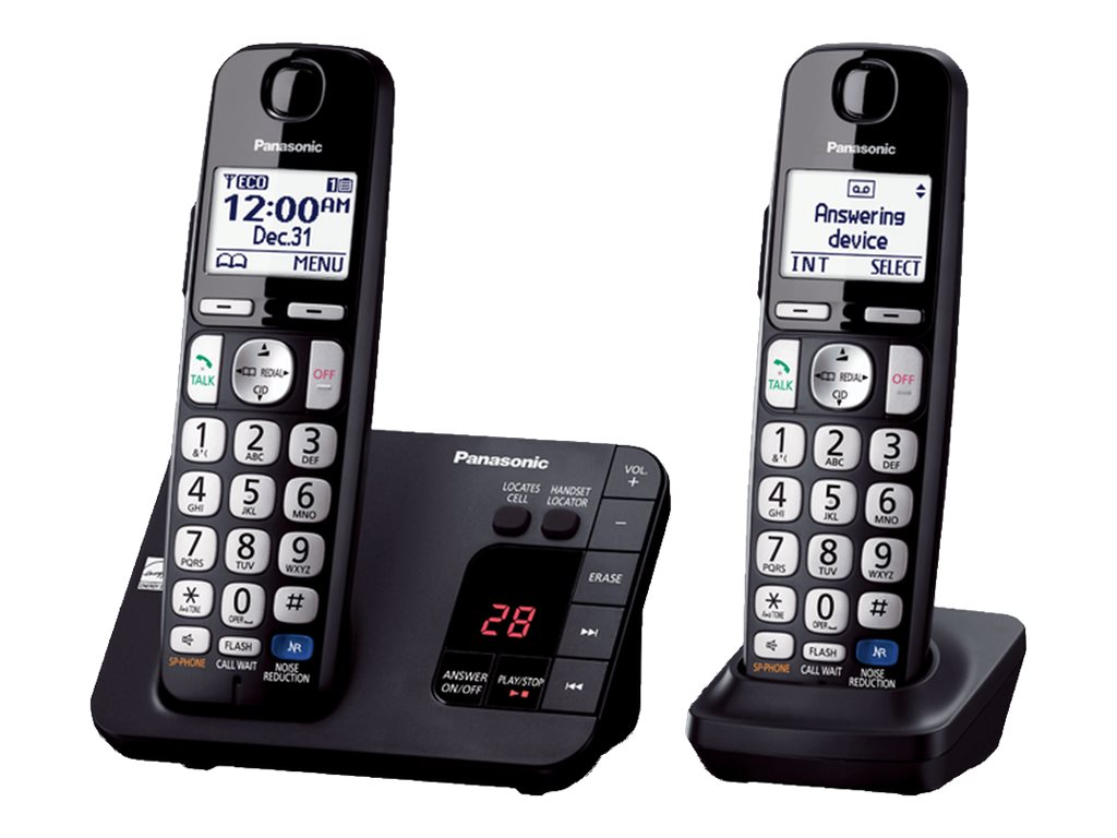 Panasonic Expandable Digital Phone w  Answering Machine & (2) Cordless Handsets, KX-TGE232B