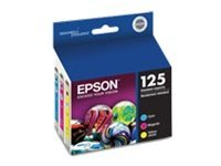 Epson Color 125 Ink Cartridges (Multi-pack), T125520, 11463318, Ink Cartridges & Ink Refill Kits