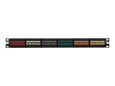 Panduit NETKEY 24PORT MOD PATCH PANEL  CABLW  STRAIN RELIEF BAR FLAT 1RU EA, NKFP24KSRBSY