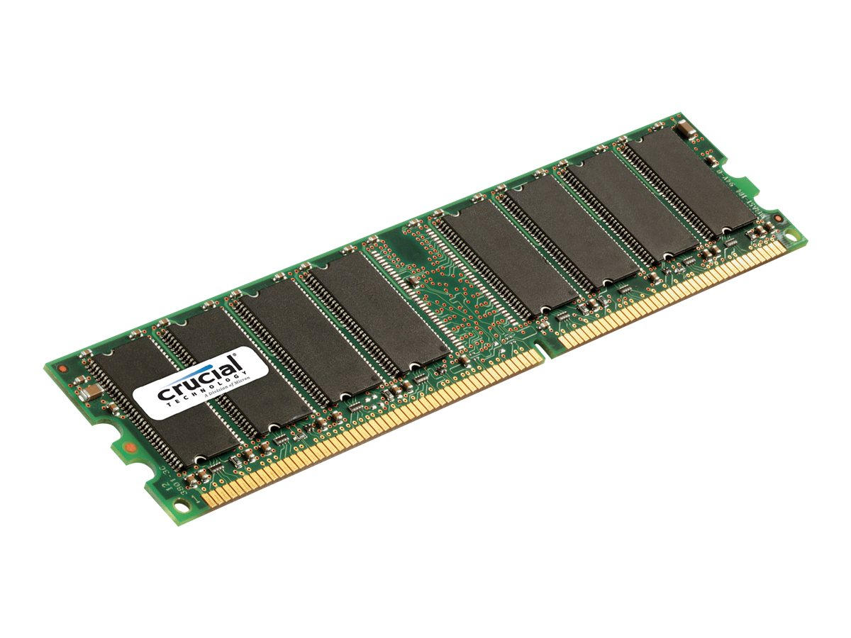 Crucial 1GB PC3200 184-pin DDR SDRAM DIMM