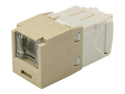 Panduit Cat6 RJ-45 8-position, 8-wire Spring Shuttered Universal Jack Module, Electric Ivory, CJH688TGEI